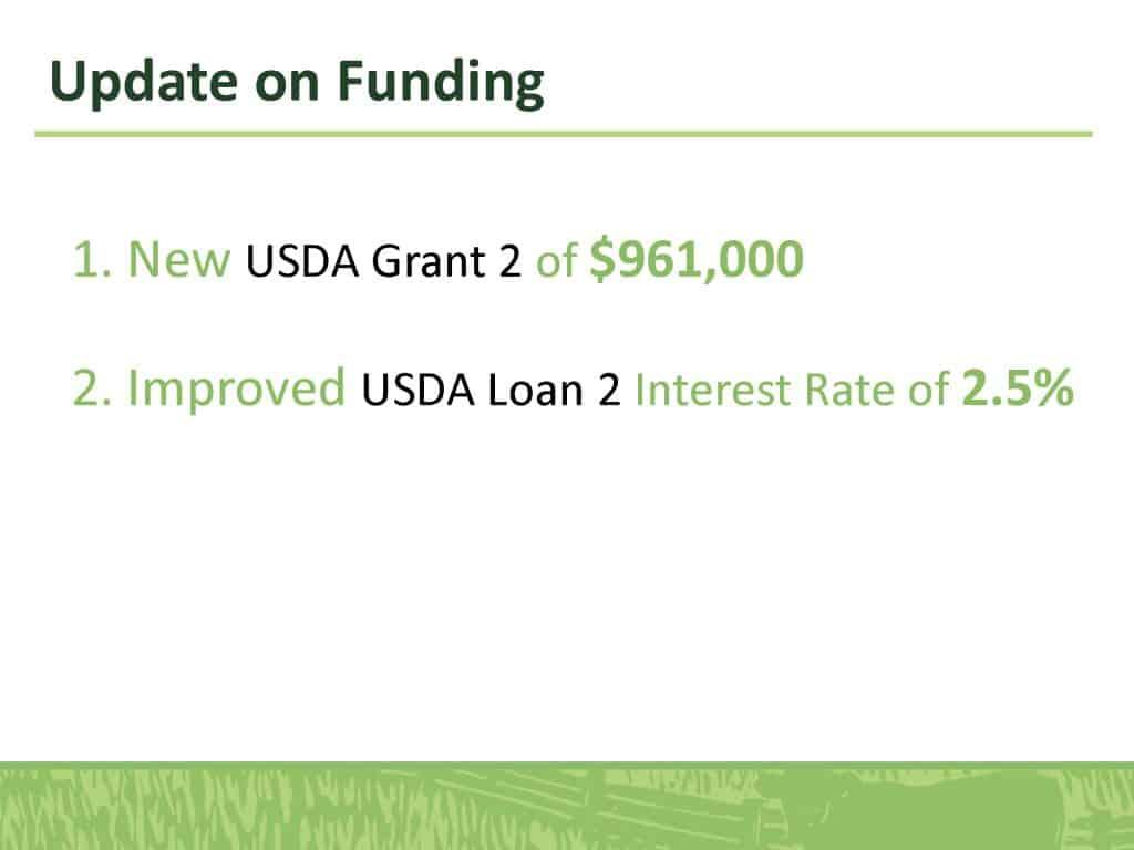 Update on Funding